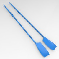 3d model professional rowing oars