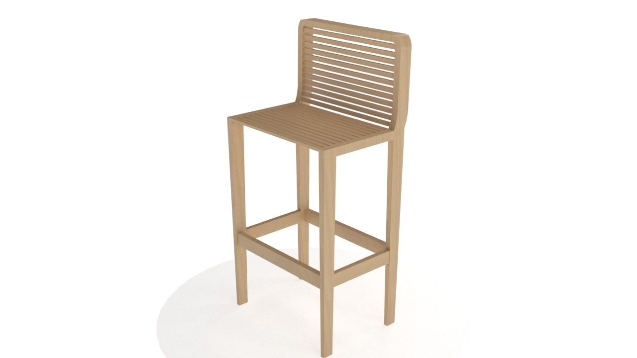 coffe chair 3d model