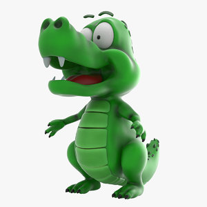 cartoon baby dragon 3d obj