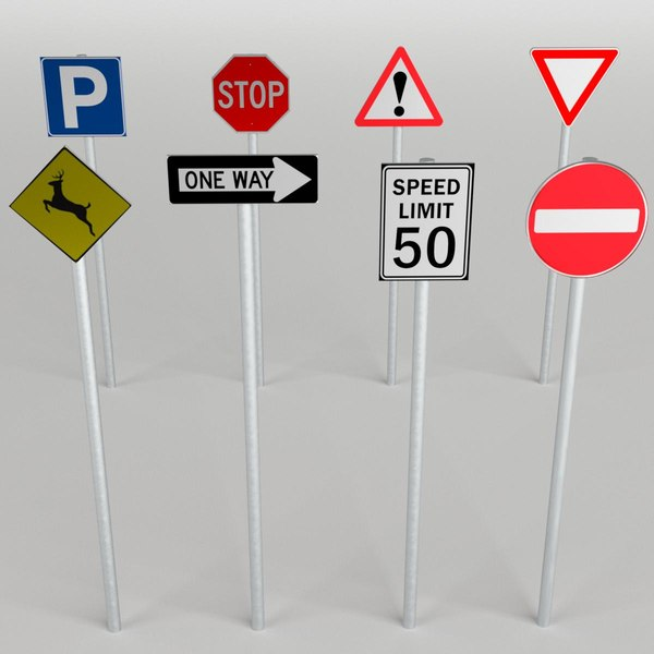3d traffic signs pack