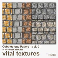 Cobblestone Pavers Textures vol.01