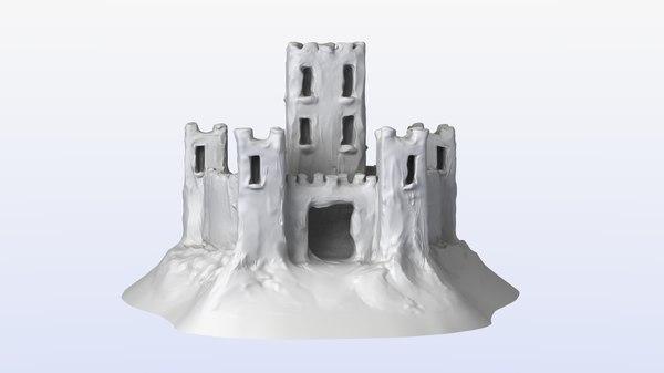 obj snow castle