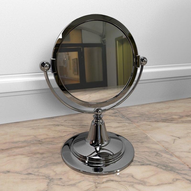 3d model of vanity mirror