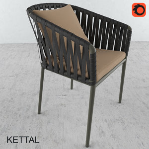 3d bitta chair