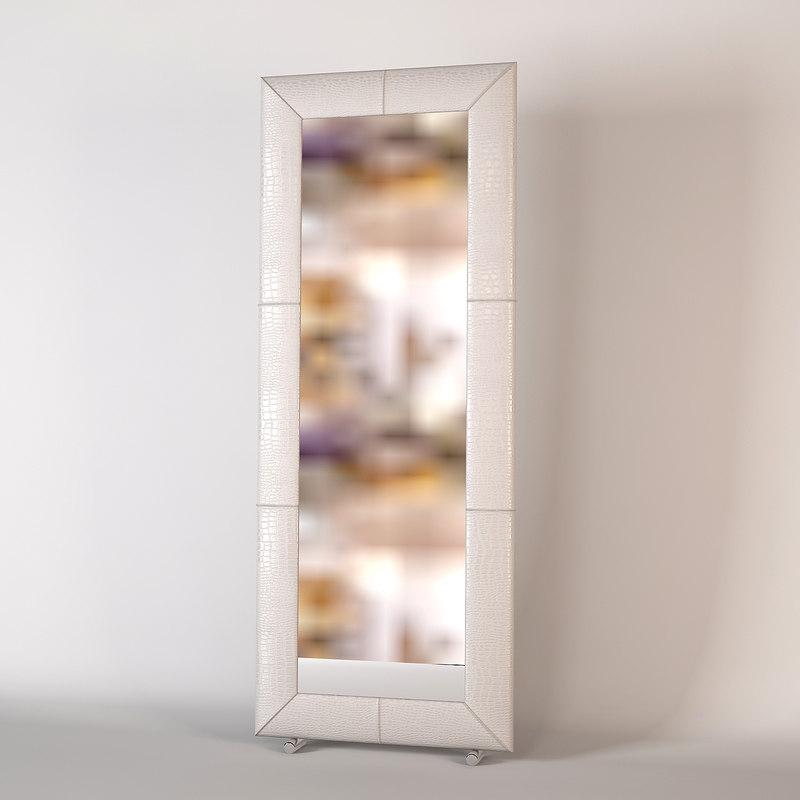 free fendi miror 3d model