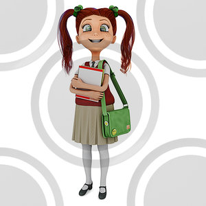 Girl student holding textbooks (3)