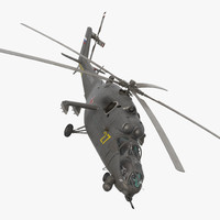 3d model russian helicopter mi-35m hind
