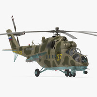 russian helicopter mi-35m 3d model