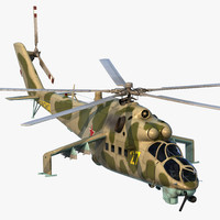 Russian Helicopter Mil Mi-24 Rigged