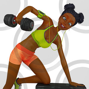 Woman doing tricep kickbacks stock illustration