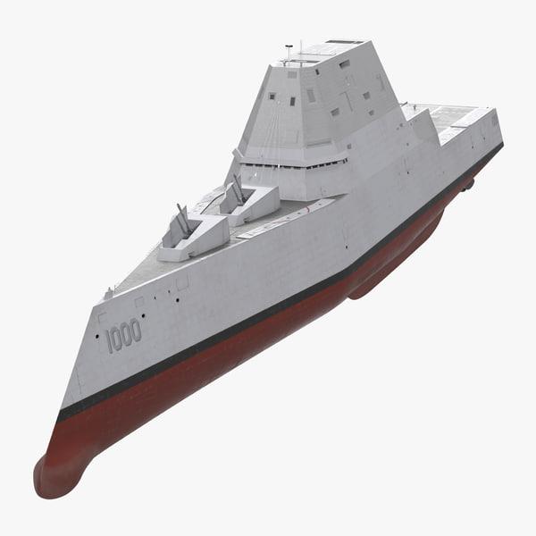 ma zumwalt class destroyer stealth ship