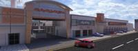 complex buliding carwash-mall