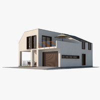 contemporary house interior 3d model