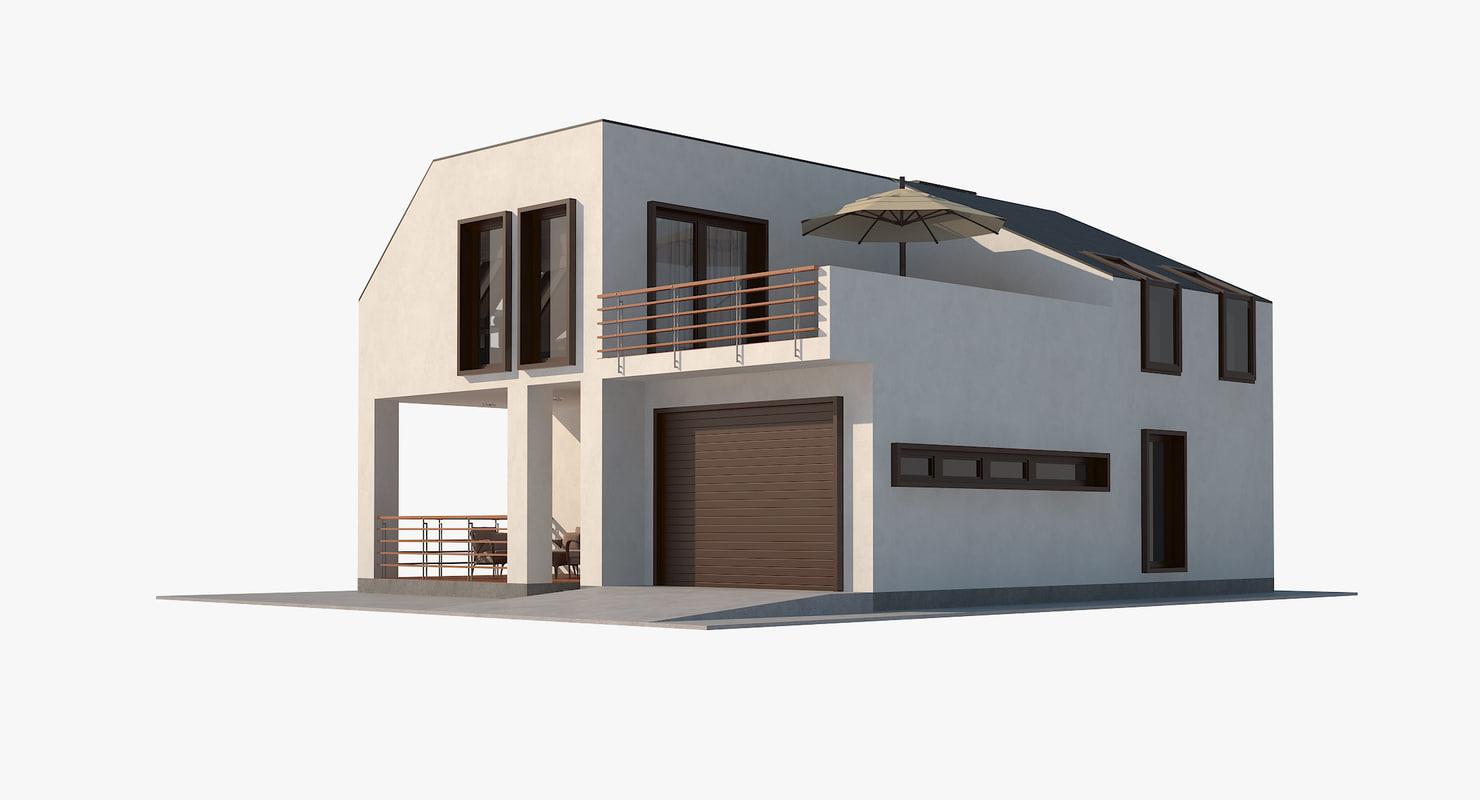 contemporary house interior 3d model