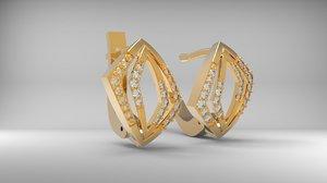 3d model jewelry earring