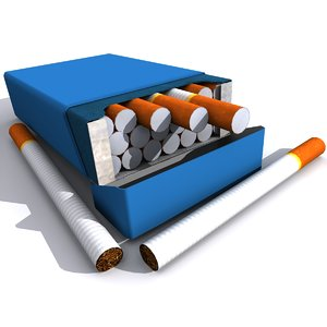 3d cigarettes pack model