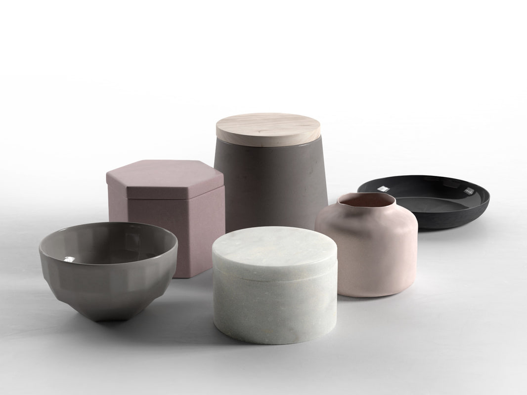 storage jars bowls plate 3d max