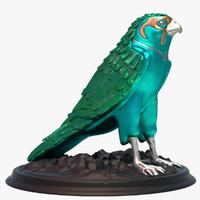 falcon statue 3d x