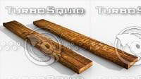 3d model fence assemble wooden