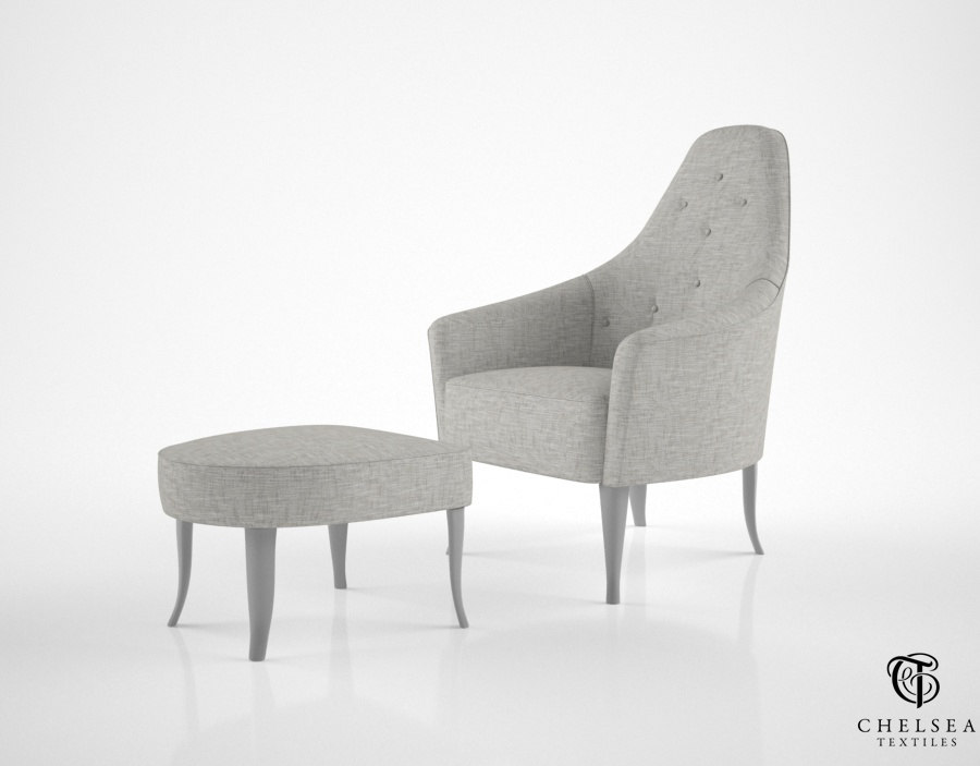 chelsea textiles armchair curved max
