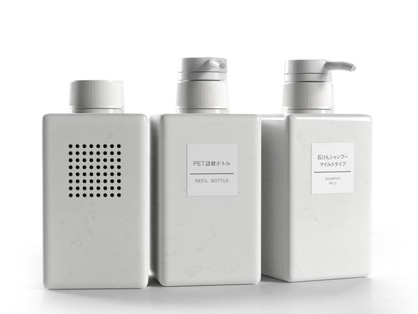 c4d bath radio bottles
