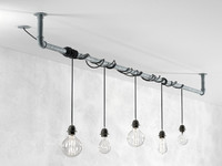 3d max industrial hanging light bulbs