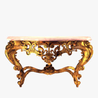 3d obj antique table