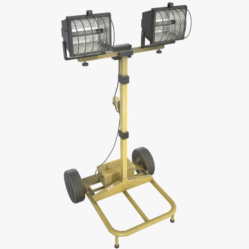 3ds max floodlight light