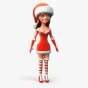 Mrs. Claus 3D models