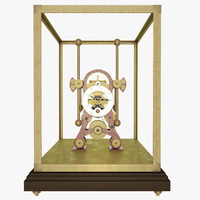 steam punk clock 3d model