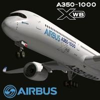 3d model airbus a350-1000 xwb
