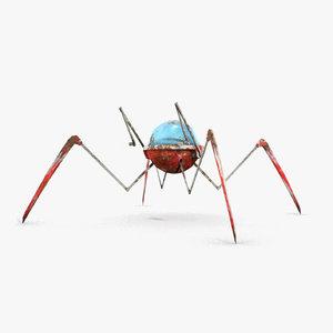 robot spider 3d model