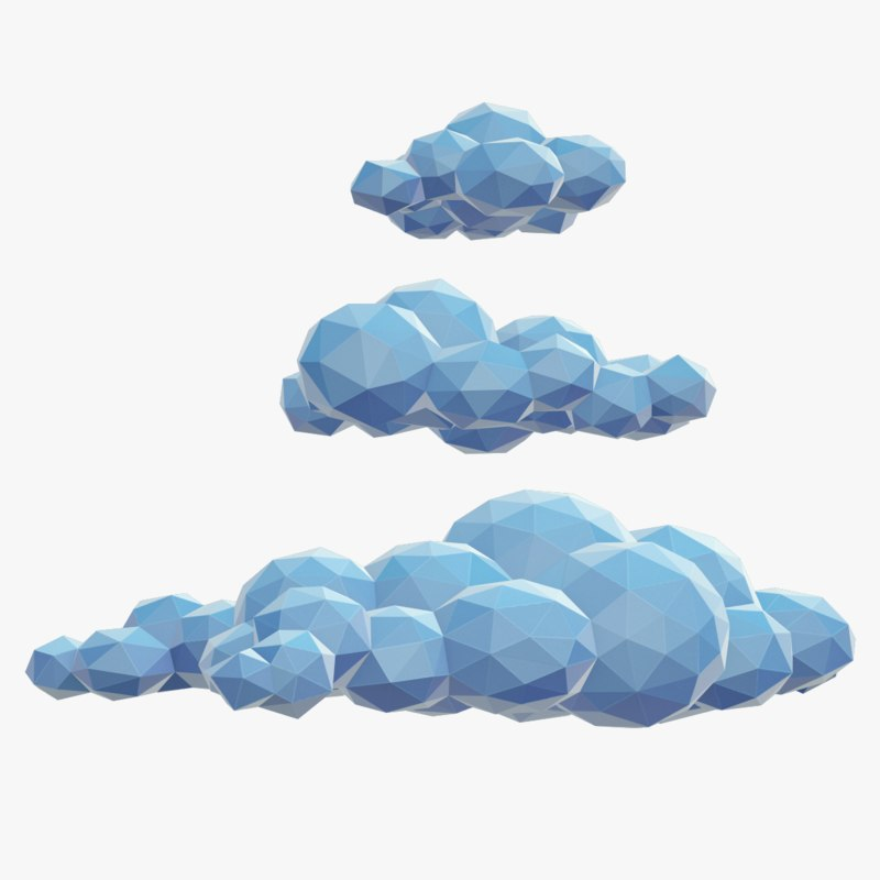 beautiful clouds polys 3d max