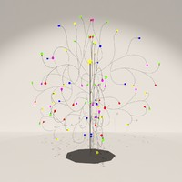 3d model new year tree 01