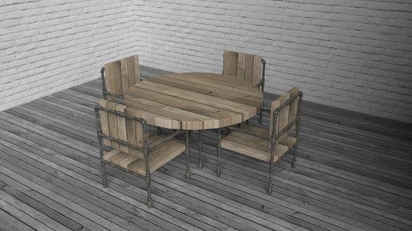 3d model table kit 01
