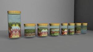 3d jars model