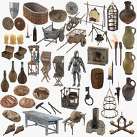Medieval Collection 02 - 52 Objects