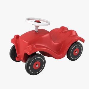 3d model of generic bobby car wheels
