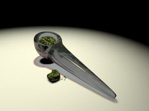 hand glass pipe 3d model