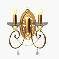 3d model massive wall lamp 38537