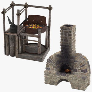 3d blacksmith furnaces