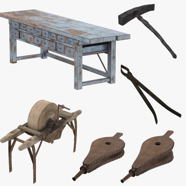 blacksmith table c4d