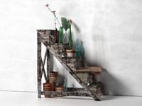 max staircase stand flowers pots