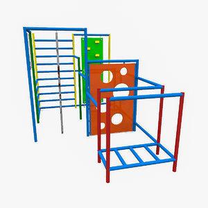 children s swedish wall objects 3d model