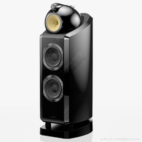 floorstanding bowers wilkins 802 3d max