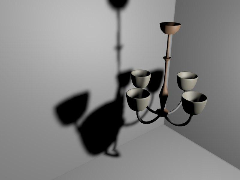 chandelier lamp c4d