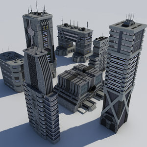 fiction futuristic buildings science-fiction max
