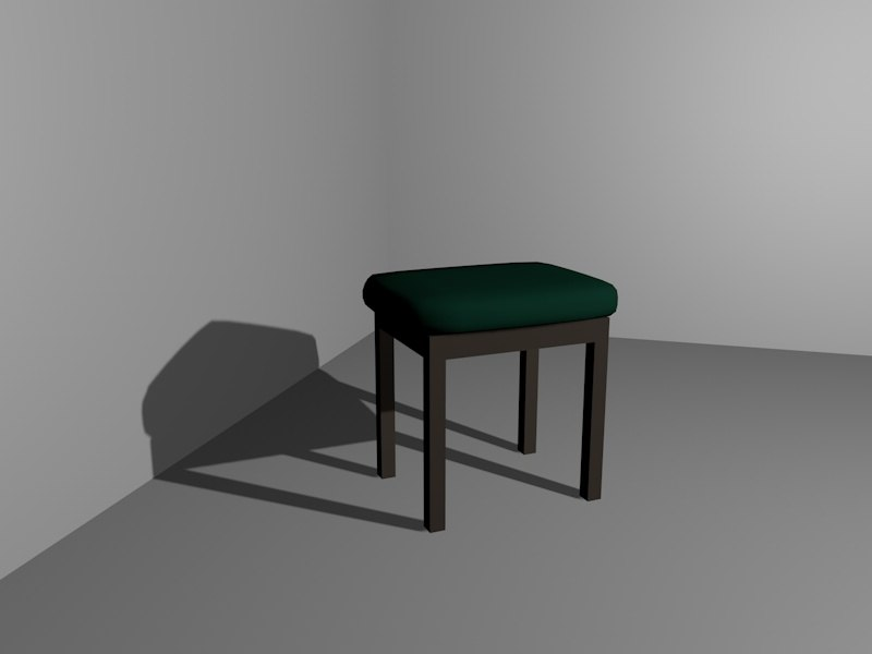 3d model piano chair