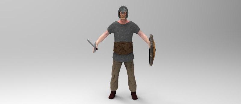3d model warrior
