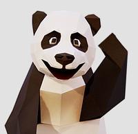 3d giant panda model